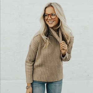 Roolee Thick Knit Turtleneck Sweater